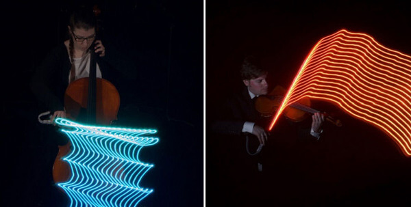 LED-lights-visualize-the-movements-of-musicians-as-colourful-waves