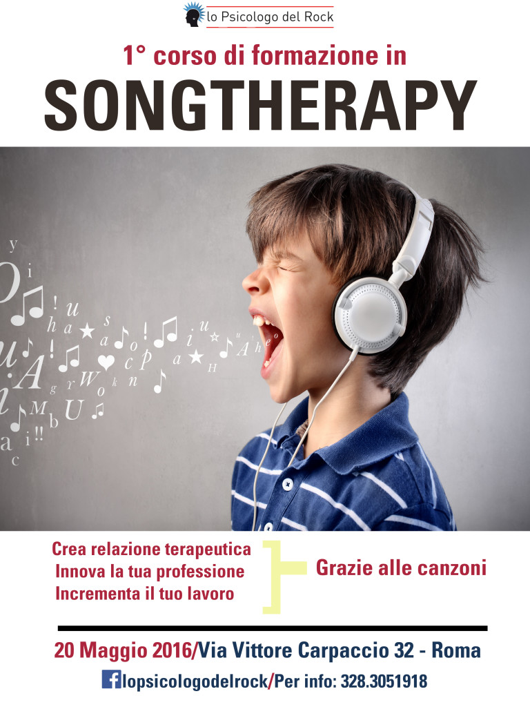 SONG THERAPY training bambino maggio 2016